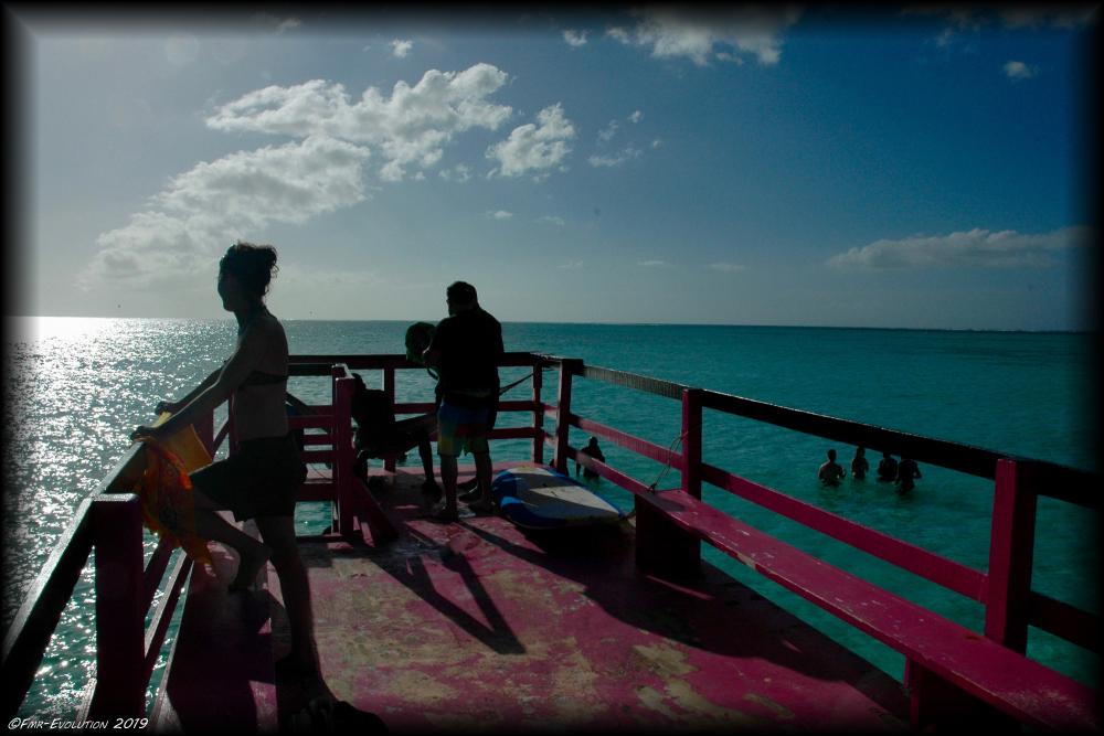 Tobago - Piscine et barque