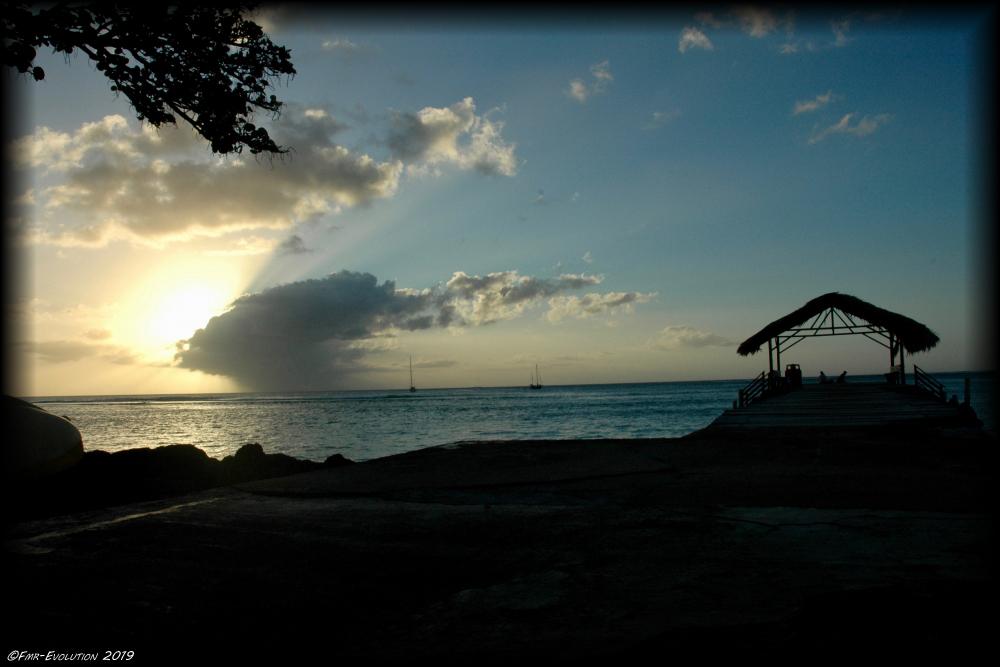 Tobago - Pigeon Point le soir