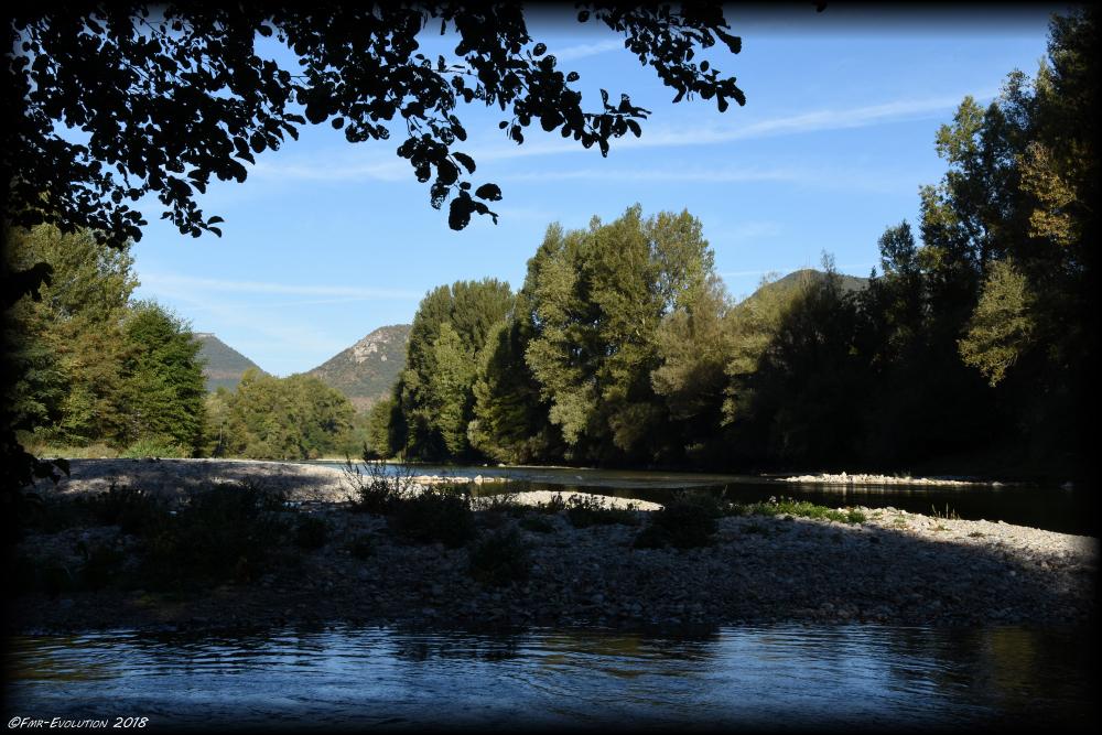 Le Tarn - sortie des gorges
